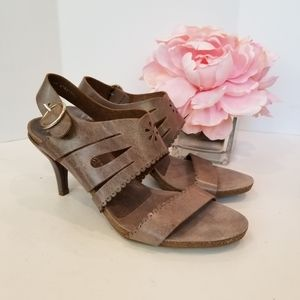 Pedro Garsia brown leather high heels sandals new